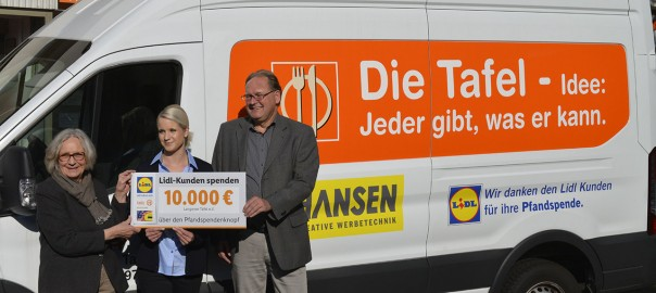 Langener Tafel erhält Lidl Spende Kundenspende Pfandautomat