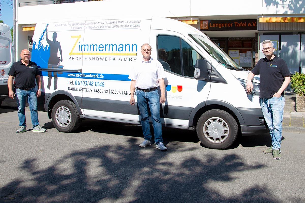 Langener Tafel Matthias Zimmermann Profihandwerk Langen Corona Hilfe Renovierung Plexiglasschutz