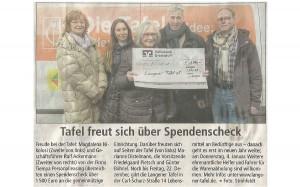 Langener Tafel erhält Spendenscheck der tiempa Personalleasing GmbH Langen