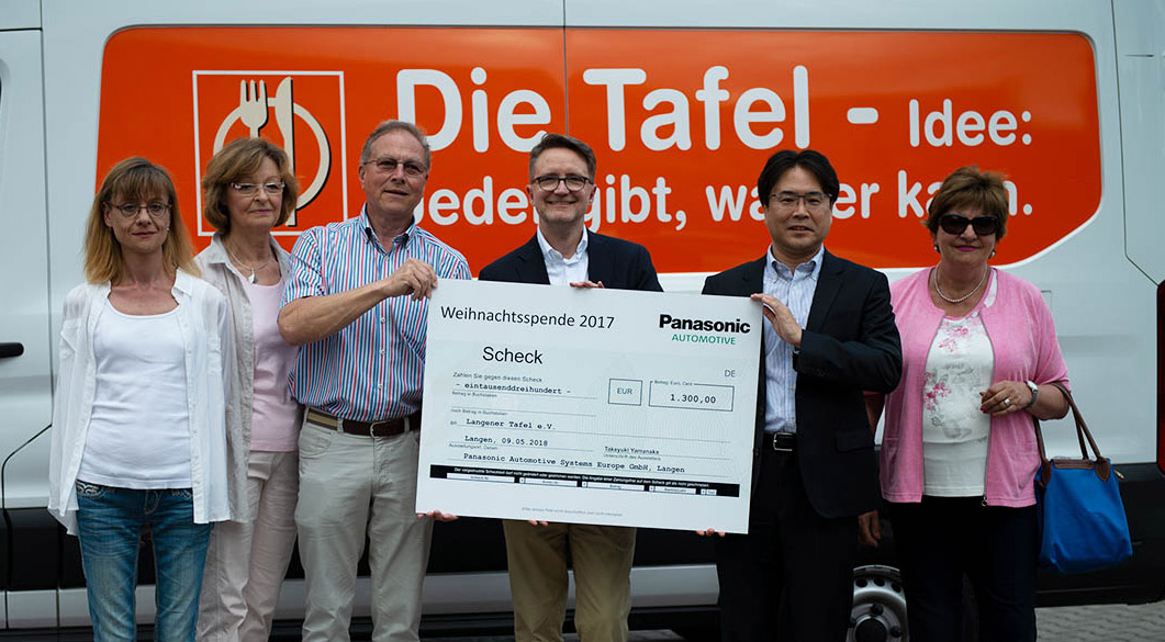 Panasonic Automotive Systems Europe GmbH Langen Germany spendet an Langener Tafel Unterstützung des Ehrenamts