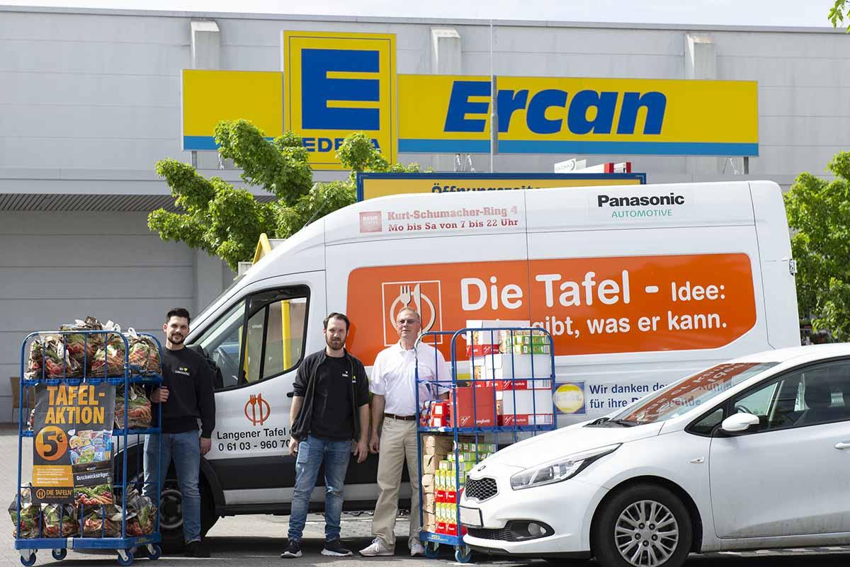 Langener Tafel EDEKA Ercan Frischkauf Langen Tütenaktion 2019