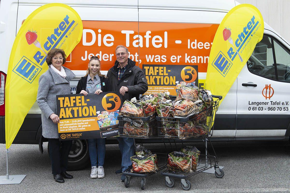 Langener Tafel EDEKA Richter Frischkauf Dreieich Tütenaktion 2019