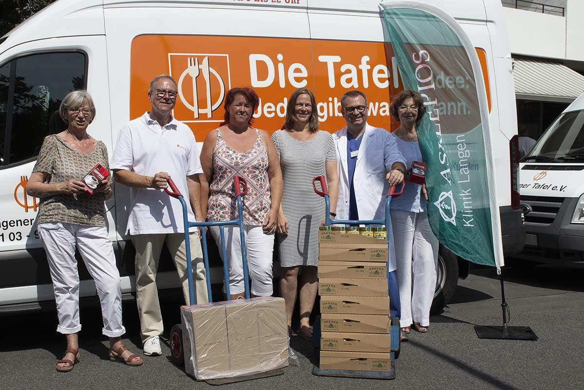 Langener Tafel Asklepios Klinik Langen Weight Watchers Gruppe spendet Lebensmittel