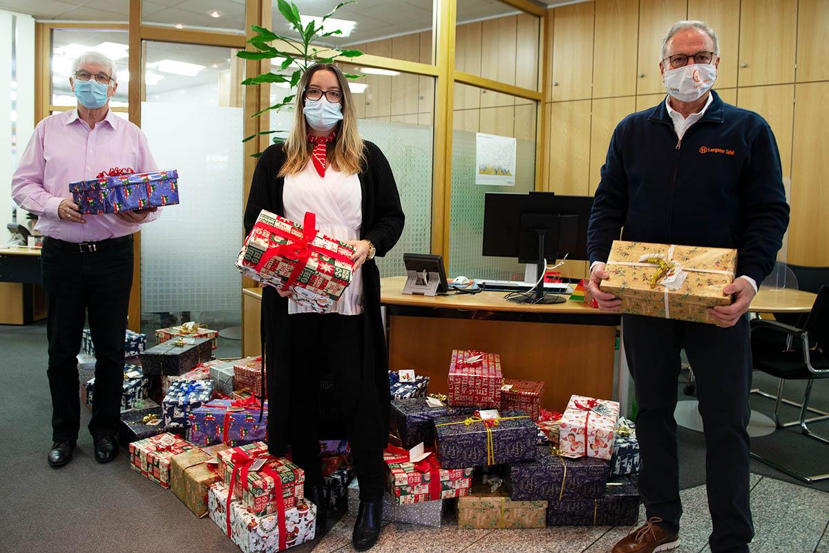 Langener Tafel Sparkasse Langen-Seligenstadt Weihnachtsaktion Geschenke Kinder